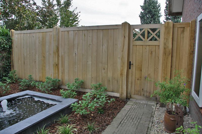 De charme van een houten schutting for Schutting tuin